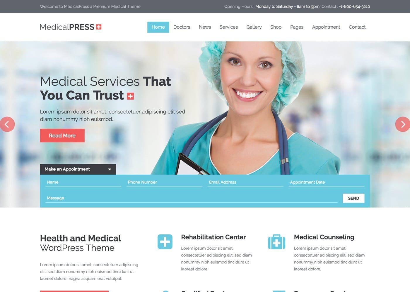 MedicalPress WordPress Theme